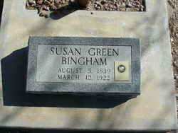 Susan Melvina <I>Green</I> Bingham