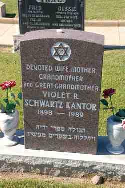 Violet R. <I>Schwartz</I> Kantor