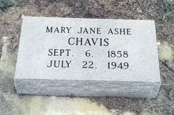 Mary Jane <I>Ashe</I> Chavis