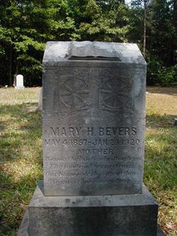 Mary Hastletine <I>Brown</I> Bevers