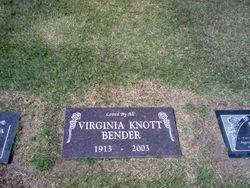Virginia Maurine <I>Knott</I> Bender