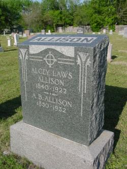 Mrs Alcey <I>Laws</I> Allison