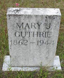 Mary Jane <I>Pruitt</I> Guthrie