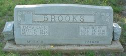 """Emily Jane """"Emma"""" <I>Walton</I> Brooks"""