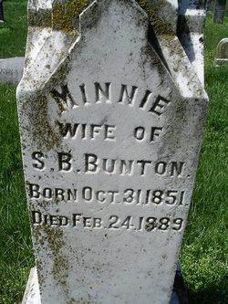 Minnie <I>McAfee</I> Bunton