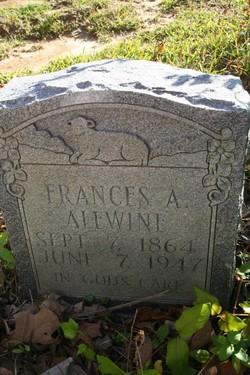 Frances Adella <I>Leatherwood</I> Alewine