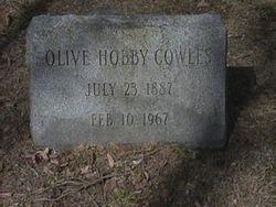 Olive <I>Hobby</I> Cowles