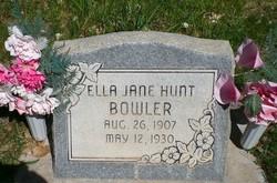 Ella Jane <I>Hunt</I> Bowler