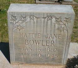 Hattie Jane <I>Canfield</I> Bowler