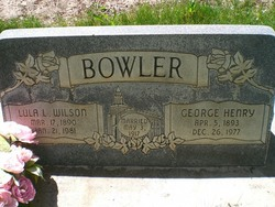 Lula Lenore <I>Wilson</I> Bowler