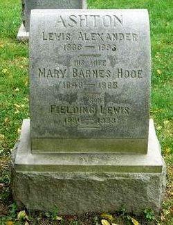 Mary Barnes <I>Hooe</I> Ashton