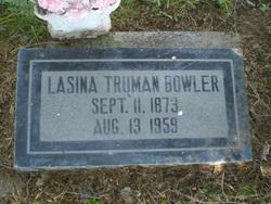 "Lucina Almina ""Lasina"" <I>Truman</I> Bowler"