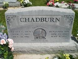 Martha Elizabeth <I>Hunt</I> Chadburn
