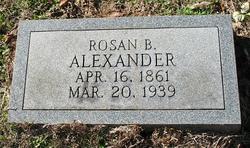 "Rose Ann ""Rosan or Rosa"" <I>Beard</I> Alexander"