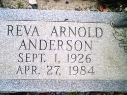 Reva <I>Arnold</I> Anderson