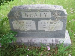 Rev William Arthur Beaty