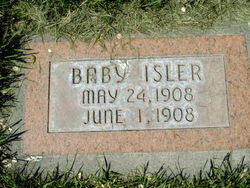 Infant daughter Isler