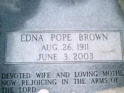 Edna <I>Pope</I> Brown