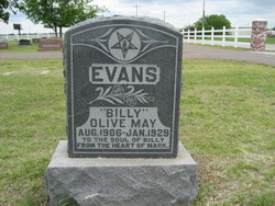 Olive May Billy Evans