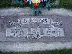 Inez Thurza <I>Clark</I> Burgess