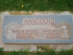 Marie M <I>Snyder</I> Haygood