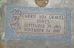 Carrie Ada <I>Graves</I> Jones