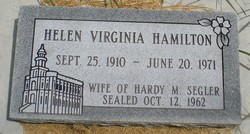 Helen Virginia <I>Hamilton</I> Segler