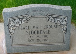 Pearl Mae <I>Crouse</I> Stockdale