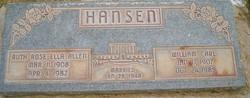 Ruth Rose Ella <I>Allen</I> Hansen