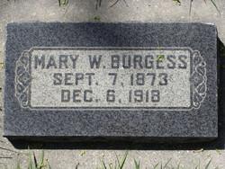 Mary <I>Whitby</I> Burgess