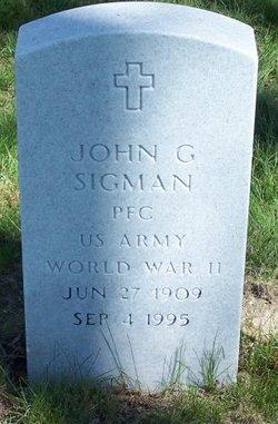 John G Sigman