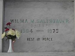 Wilma M <I>Saltsgaver</I> Bailey