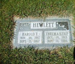 Thelma <I>Kemp</I> Hewlett