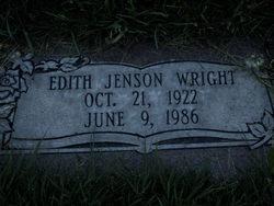 Edith Lerretta <I>Jensen</I> Wright