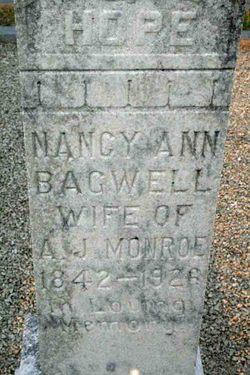 Nancy Ann <I>Bagwell</I> Monroe