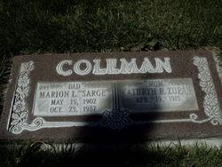 """Marion L """"Sarge"""" Coleman"""