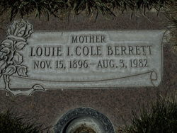 Louie Irene <I>Cole</I> Berrett