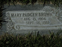 Mary <I>Padgen</I> Brown