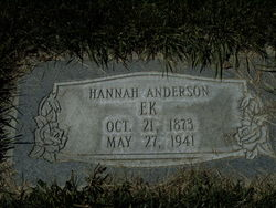Hanna W <I>Anderson</I> Ek