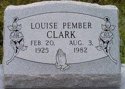 Louise <I>Pember</I> Clark