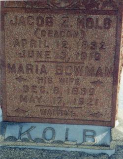 Maria <I>Bowman</I> Kolb