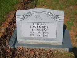 Julia Ann <I>Lavender</I> Denney