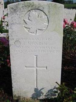 Lance Corporal Leonard Munroe
