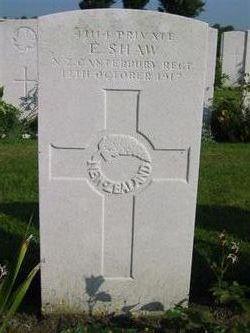 Private Edwin Shaw