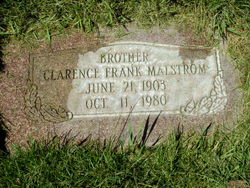 Clarence Frank Malstrom