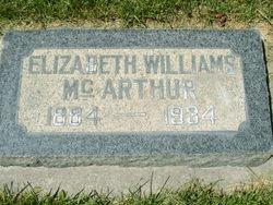 Elizabeth Sarah <I>Canning</I> McArthur