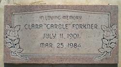 """Clara Hildegard """"Carole"""" <I>O'Banion</I> Forkner"""