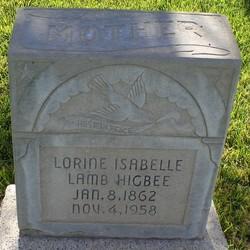Lorine Isabelle <I>Lamb</I> Higbee