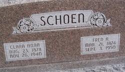 Clara Anna <I>Elgert</I> Schoen