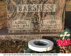 Ethel Hedwig Anna <I>Juenke</I> Barsness